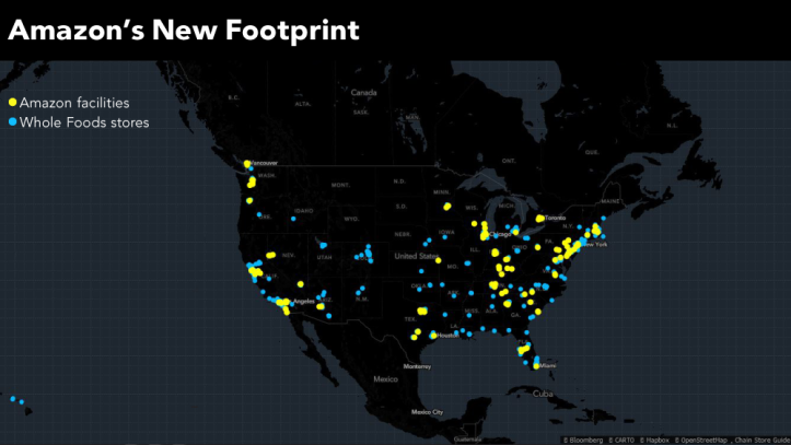 Amazon neww footprint
